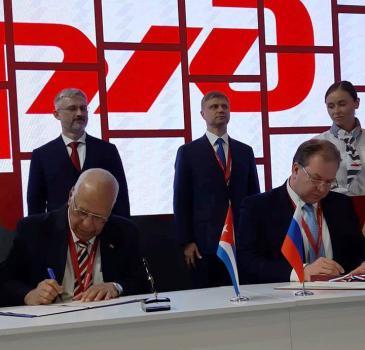 Firman Cuba y Rusia Convenio Intergubernamental en la esfera ferroviaria